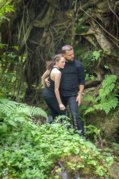 Ballet Dancers in Rainforest