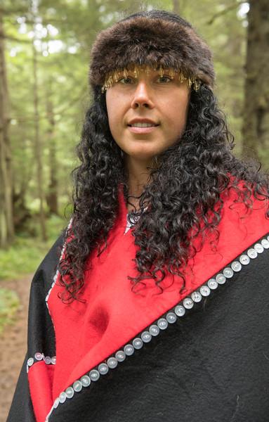 Model in Tlingit Regalia