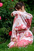 Girl in a flower yukata