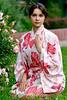 Girl in a flower yukata