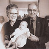 1963-xx-xx Debbi Valentine baby w Grandmother and Grandaddy Clark