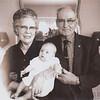 1963-xx-xx Debbi Valentine baby w Grandmother and Grandaddy Clark