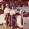 Uncle Joel and Johnny in front of Sally and Joel' house on Tella Street, Dallas