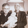 1963-xx-xx Debbi Valentine baby w Grandmother and Grandfather Clark 2