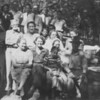 Joel Gallop back row, Isaac Ramey Garrett in center, Dollie Rupard Lewis in center, possibly Margaret Rupard Hathcox of far right center