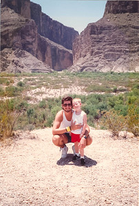 198x-xx-xx David & Christopher Thomas H Robertson at Big Bend Natl Park