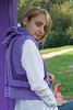 Girl in lilac waistcoat