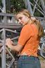 Girl in orange top
