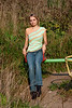 Girl in sleeveless top