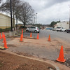 why so many cones? driving around in Athens Ga