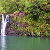 April 16, 2010 - The is one of the many pools and waterfalls along the Hana Highway in Eastern Maui. The road winds along past numerous amazing views, waterfalls, and tiny one lane bridges.