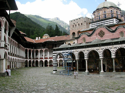Rila Monastery - founded AD 927 by Ivan Rilski.