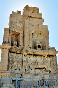 Marble tomb and monument built in about AD 114 for Roman senator Gaius Julius Antiochus Filopappos.