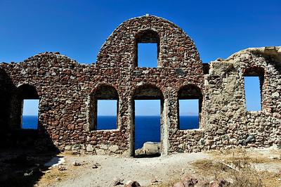 A remaining fortress wall - Kasteli Agios Nikoalos.