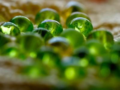 Glass seed beads.