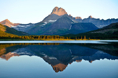 Early morning reflection of Mount Wilbur.