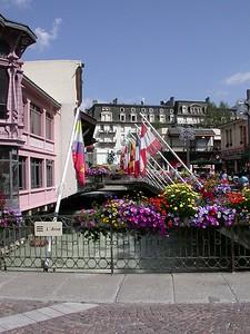 Downtown Chamonix, France.