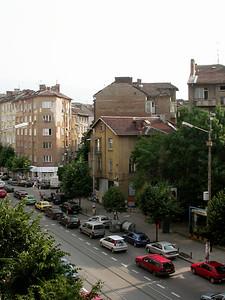 Hirito Botev Blvd. One of two primary roads in Sofia, Bulgaria.