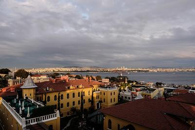 Evening over the Bosphorus.