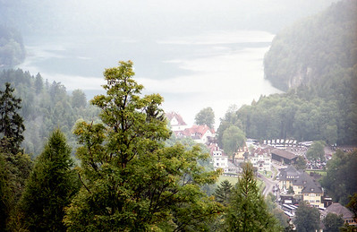 Viewing the town of Neuschwanstein Germany.