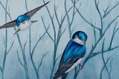 Watercolor paint.