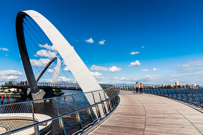 Elizabeth Quay Bridge.