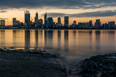View of Perth City skyline from South Perth.