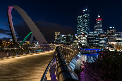 The Elizabeth Quay Bridge.