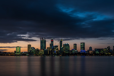 Perth City skyline.