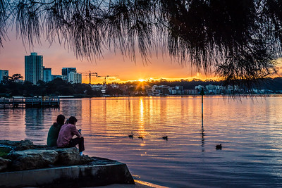 Sunset view from South Perth Foreshore.