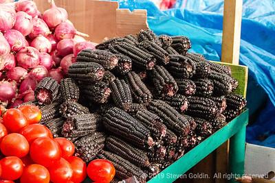 One of seven hundred varieties of Peruvian corn