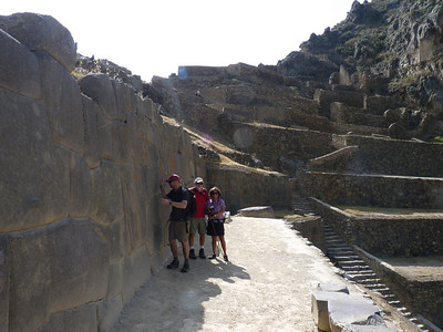 Off to the ruins here. Ollantaytambo Ruins, again amazing