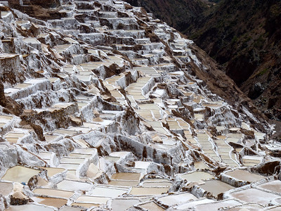 Salineras-famed Inca Salt pans are still in use today We bought a few bags of the salt