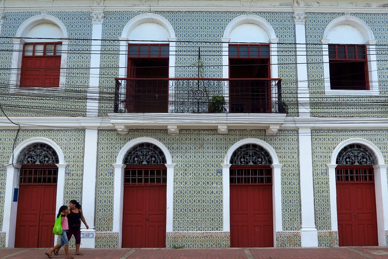 Colonial architecture in Iquitos, Peru.