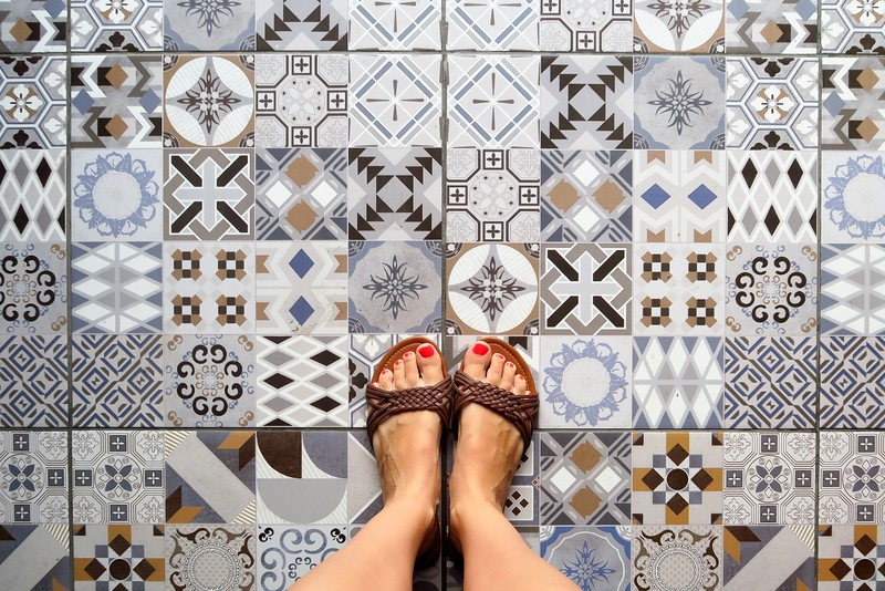 Colonial tiles in Iquitos