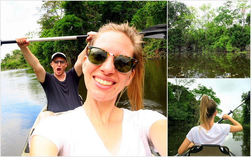 Going kayaking on the Amazon River