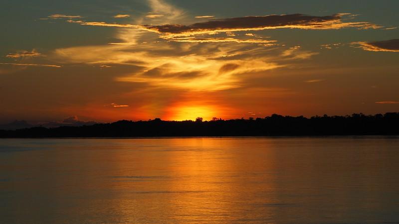 Sunset on the Amazon with Rainforest Cruises
