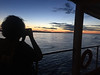 Sandy's Pics-Patricia Lloyd photographing our first sunset aboard the Amazon Star