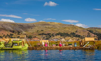 Uros Islands: They live on an approximate and still growing 120 self-fashioned floating islands in Lake Titicaca near Puno.