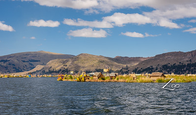 Our first stop - Uros Floating Islands