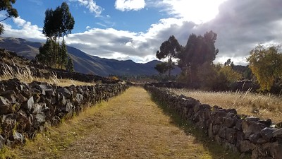 Inca empire - about 4k people used to live here before invasion..