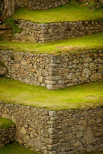 Terraces in Machu Picchu