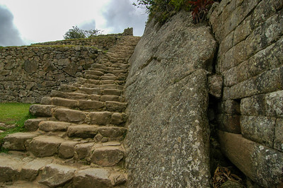 Steps Built by the Incas: Machu Picchu, Peru