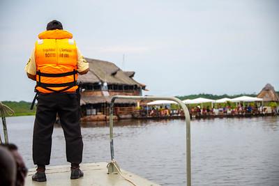 Floating Restaurant: Iquitos, Peru