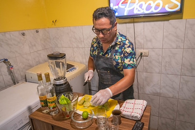 "Aaron, Our ""Pisco Sour Expert"" Making Drinks For Us."