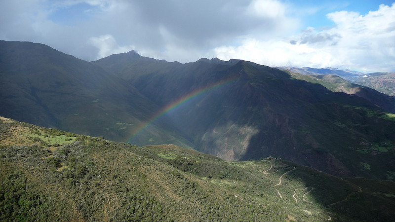 Our guide Javier explained the Inca lore of rainbows, that they are the offspring of when the gods (Wiracocha) rain down and the rain meets the earth (makes love), they give birth to rainbows.  Never thought of that before!