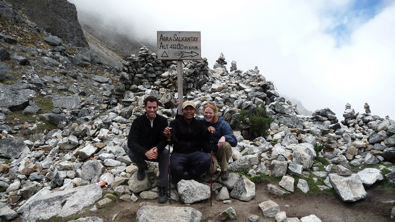 Triumphant, at 14,500 feet.  This pass was our highest elevation all trek until Machu Picchu itself.