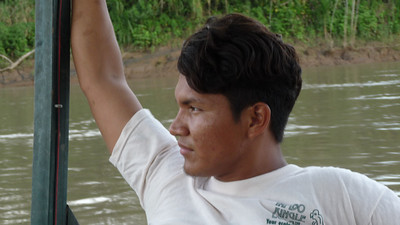 Our guide Jackson on the river.
