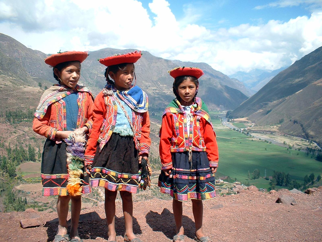 School girls in the Sacred Valley.