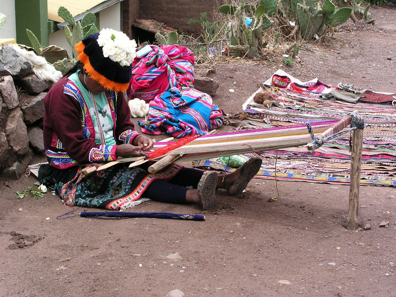 Centuries of weaving alpaca wool.